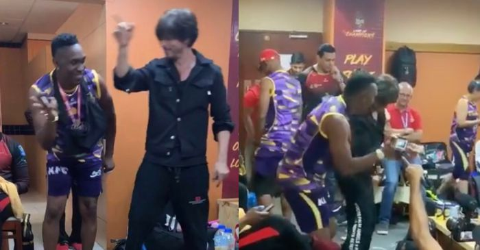 WATCH: Shah Rukh Khan and Dwayne Bravo dance on the song 'Lungi Dance' after TKR's third victory (CPL 2019)
