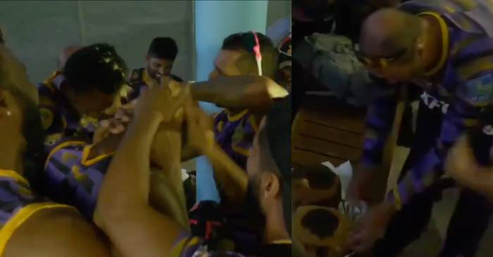 CPL 2019: WATCH – Trinbago Knight Riders players smear cake on birthday boys Khary Pierre and Anderson Phillip