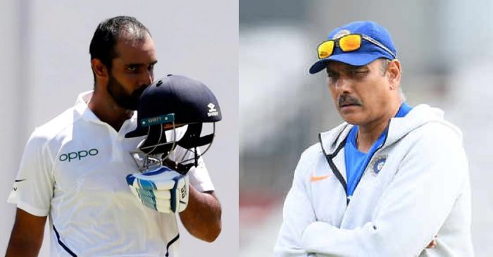 Hanuma Vihari reveals how Ravi Shastri's advice helped him against West Indies