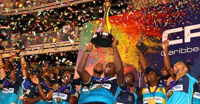 Barbados Tridents CPL 2019 final win celebration