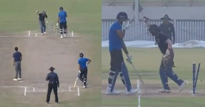 Deodhar Trophy 2019: Jaydev Unadkat makes a schoolboy error after playing the shot, gets run out