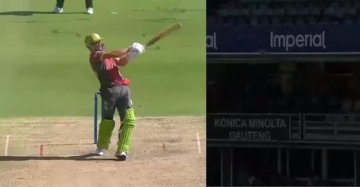 WATCH: AB de Villiers hits a massive six off Lizaad Williams in MSL 2019