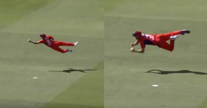 WATCH: Cameron Valente takes a stunning catch to dismiss Peter Handscomb