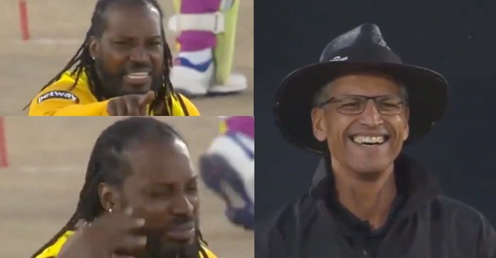 WATCH: Chris Gayle makes a 'cry-baby' face after umpire turns down his appeal