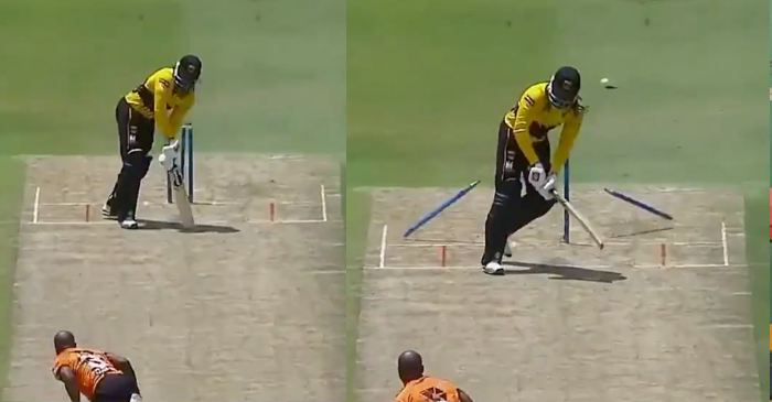 WATCH: Junior Dala's pin-point yorker to dismiss Chris Gayle in MSL 2019