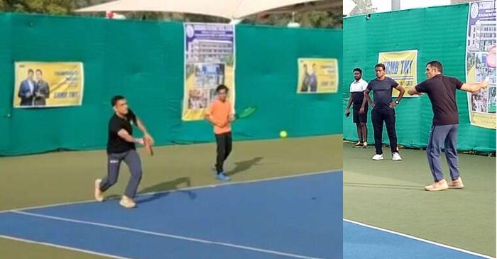 MS Dhoni wins the first match of Country Cricket Club Tennis Championship at JSCA
