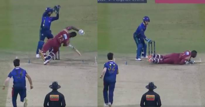 WATCH: Qais Ahmad floors Andre Russell with a perfect bouncer in T10 League 2019