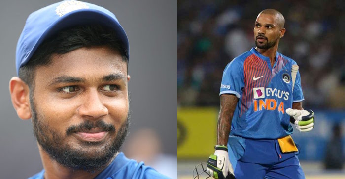 Sanju Samson replaces Shikhar Dhawan
