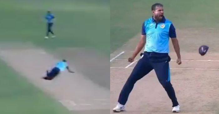 WATCH: Yusuf Pathan takes a one-handed stunner in Syed Mushtaq Ali Trophy