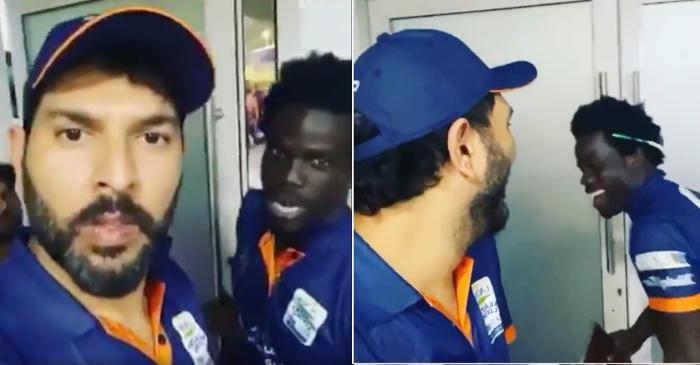WATCH: Yuvraj Singh breaks into laughter after his Maratha Arabians teammate Chadwick Walton speaks Punjabi