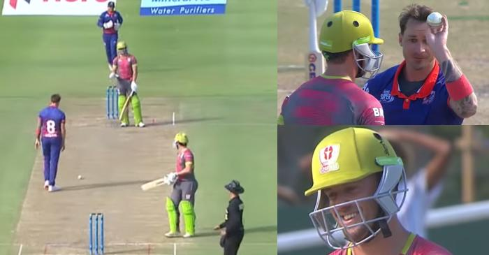 WATCH: Dale Steyn involved in hilarious confrontation with AB de Villiers during the MSL 2019