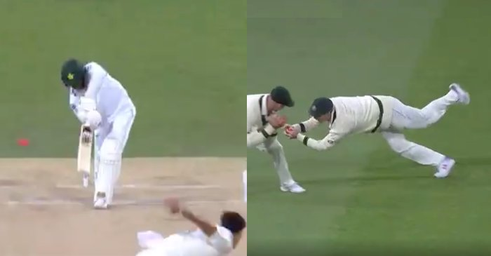 WATCH: Steve Smith takes a spectacular catch to dismiss Azhar Ali in the Pink ball Test