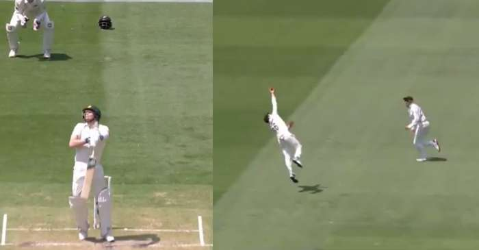 WATCH: Henry Nicholls takes a screamer to dismiss Steve Smith on Day 2 of the Boxing Day Test