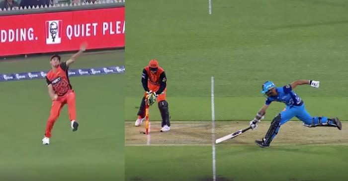 WATCH: Jhye Richardson 'bowls' a throw from boundary rope to run out Jake Weatherald