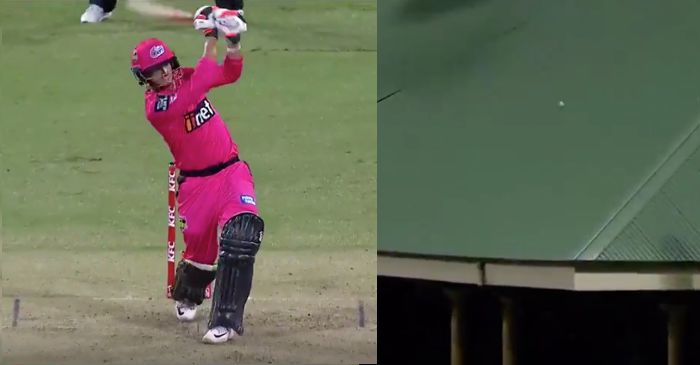 WATCH: Sydney Sixers' Josh Philippe sends the ball on the roof of stadium in BBL|09
