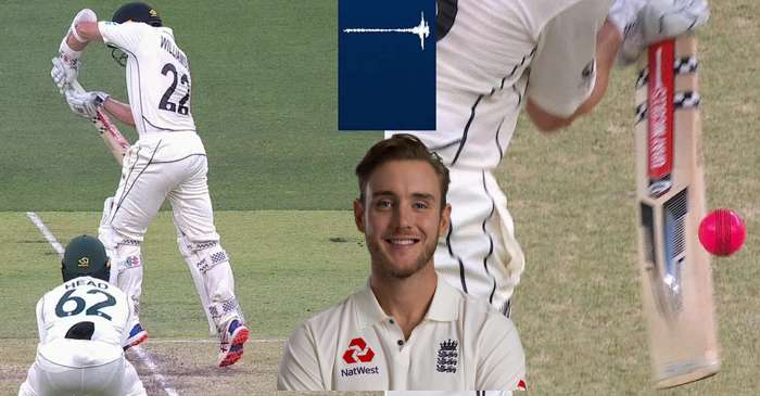 Kane Williamson edge, Stuart Broad reacts