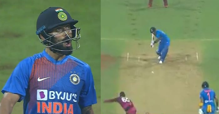 WATCH: Virat Kohli's animated reaction after hitting Kesrick Williams for a six during IND vs WI 3rd T20I