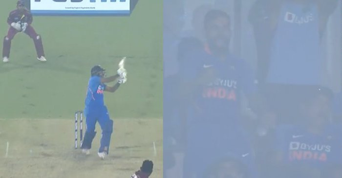 WATCH: Virat Kohli pumped up after watching Shardul Thakur's terrific hitting during India's record win over West Indies