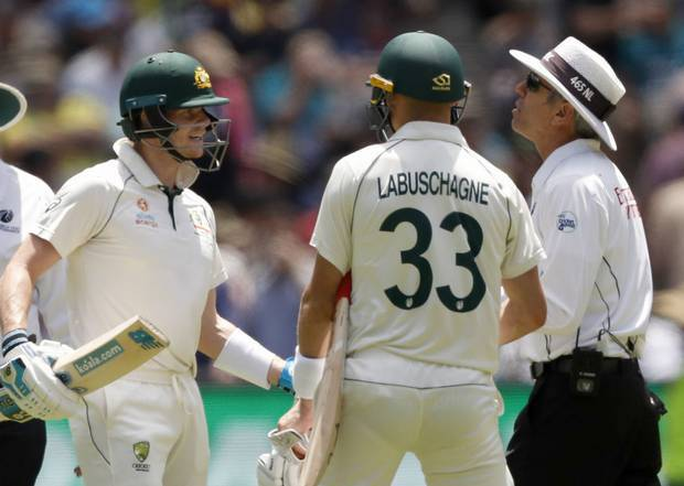 Steve Smith was left fuming at the end of the first session on Boxing Day after a baffling call from umpire Nigel Llong