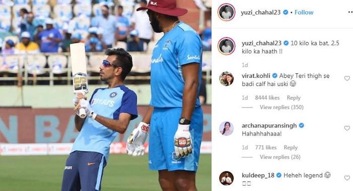 Yuzvendra Chahal Instagram post
