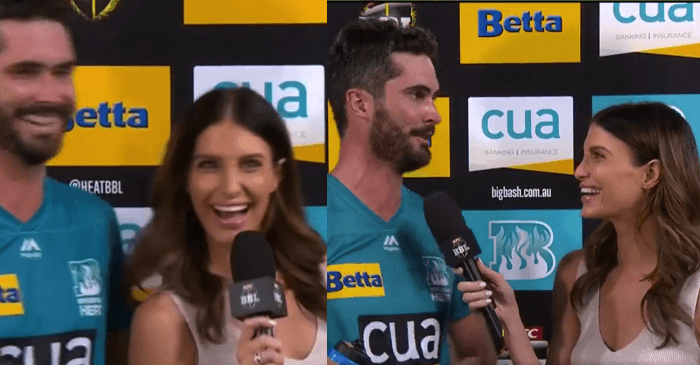 """WATCH: Erin Holland hilariously warns fiancé Ben Cutting, """"Play well in Perth or don't come home"""""""