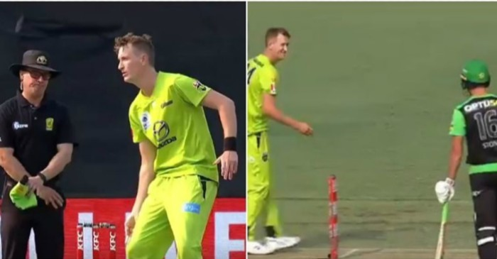 WATCH: Chris Morris tricks Marcus Stoinis with 'fake mankading' during a BBL game