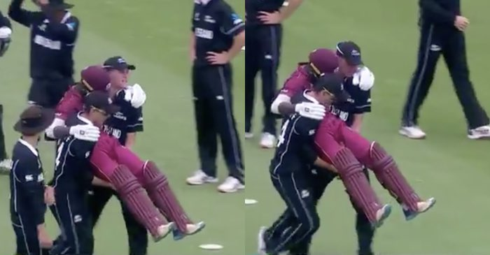 ICC U19 World Cup 2020: WATCH – New Zealand players carry West Indies injured batsman off the field; fans love the spirit of cricket