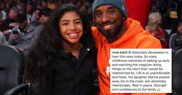 Cricketing world pays tribute to NBA legend Kobe Bryant and his daughter Gianna