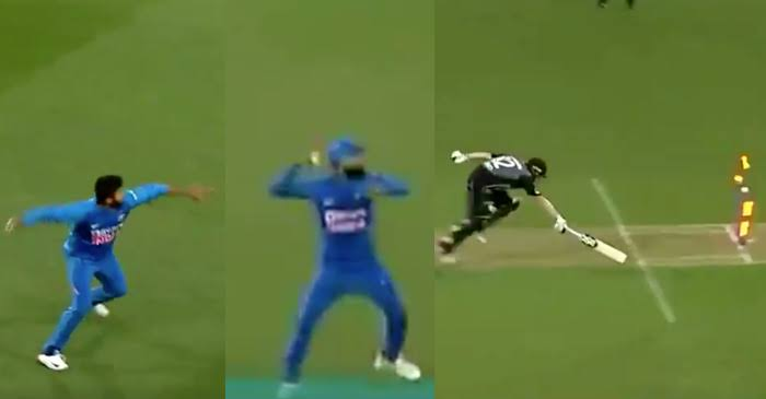 NZ vs IND: WATCH – Shardul Thakur and Virat Kohli's tag-team effort to run-out Colin Munro