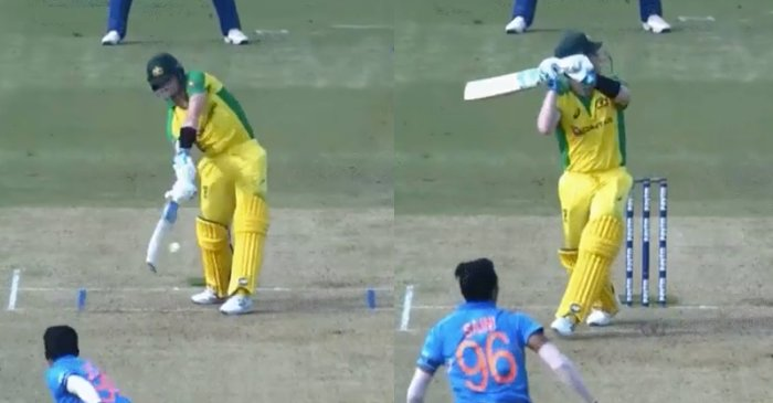 WATCH: Steve Smith hits MS Dhoni-esque helicopter shot off Navdeep Saini in Bengaluru