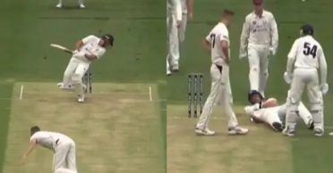 WATCH: Batsman goes down as Billy Stanlake bowls a deadly bouncer in Sheffield Shield