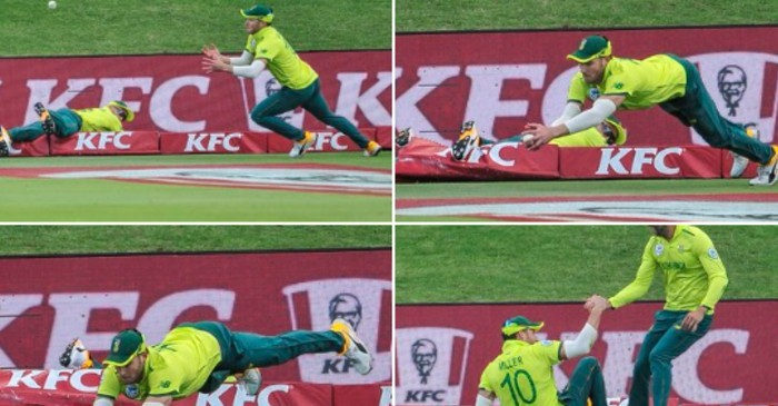 WATCH: Faf du Plessis and David Miller pair up to pull off a screamer in 2nd T20I vs Australia