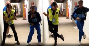 WATCH: Jemimah Rodrigues shows off her dance moves with an Australian security guard at Women's T20 World Cup