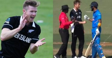 NZ vs IND: Jimmy Neesham reacts after his friendly banter with KL Rahul in Bay Oval ODI