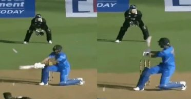 NZ vs IND: KL Rahul leaves commentators speechless with a reverse-flick six off James Neesham