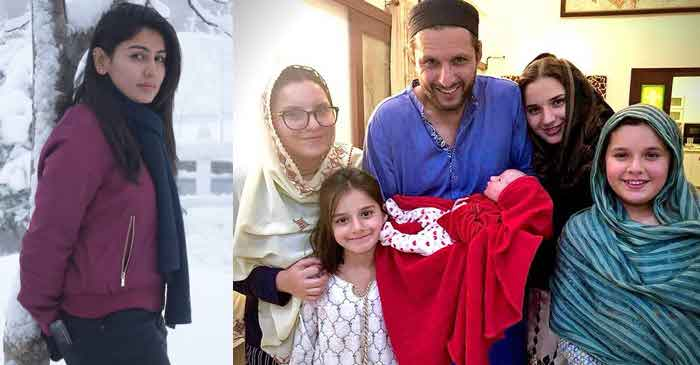 Kainat Imtiaz, Shahid Afridi with his five daughters