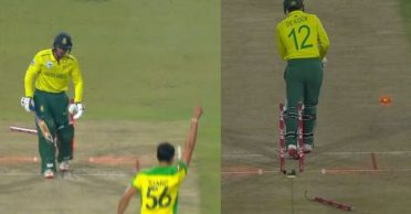 SA vs AUS: Mitchell Starc rattles Quinton de Kock's middle stump with a stunning delivery – WATCH