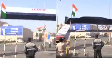 WATCH: Entry gate of Motera Stadium collapses ahead of Donald Trump's visit to Ahmedabad