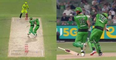 BBL|09: WATCH – Nick Larkin crashes into teammate Marcus Stoinis while completing a run