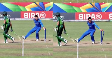 ICC U19 World Cup 2020: WATCH – Noor Ahmed's cheeky 'Mankad' run-out to dismiss Muhammad Huraira
