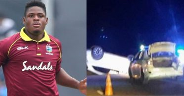 West Indies pacer Oshane Thomas injured after a vehicle mishap