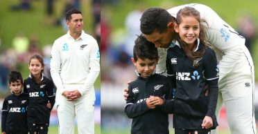 NZ vs IND: WATCH – Ross Taylor accompanied by his kids in 100th Test