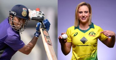 Ellyse Perry throws a challenge to Sachin Tendulkar at Bushfire Bash; the Master Blaster responds