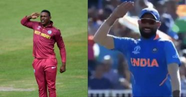 Sheldon Cottrell intends to teach Mohammed Shami his salute celebration with Jimmy Neesham