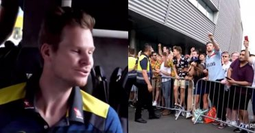 Cricket Australia unveil unprecedented footage of unruly English fans hurling abuses at their squad