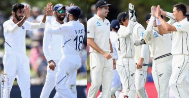 NZ vs IND: Bowlers dominate as 16 wickets fell on Day 2 of Christchurch Test