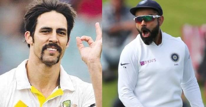 Mitchell Johnson and Virat Kohli