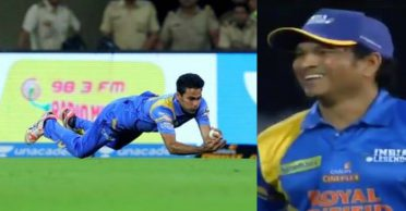 WATCH: Mohammad Kaif grabs two stunning catches against Sri Lanka Legends in Road Safety World Series