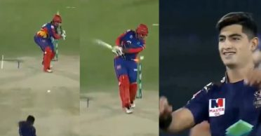 WATCH: Naseem Shah castles Sharjeel Khan with a 145 kmph delivery – PSL 2020