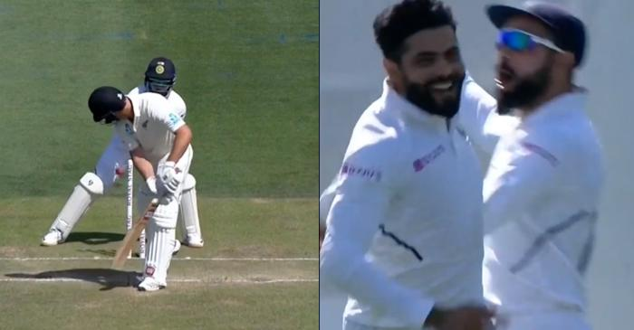 NZ vs IND: Ravindra Jadeja castles Colin de Grandhomme with an absolute peach – WATCH